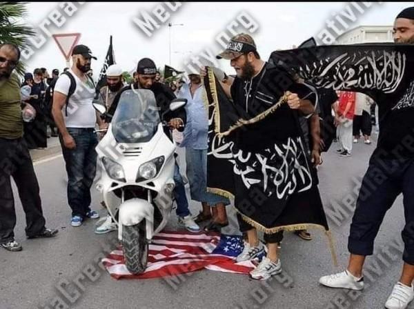 عناصر من داعش مندسة داخل المظاهرات الأمريكية
