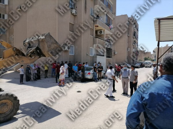 حملة إزالة تعديات على اراضي الدولة بحي ثالث الإسماعيلية