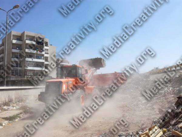 محافظ الإسماعيلية يامر بإزالة جبل القمامة من امام محطة قطار الشيخ زايد