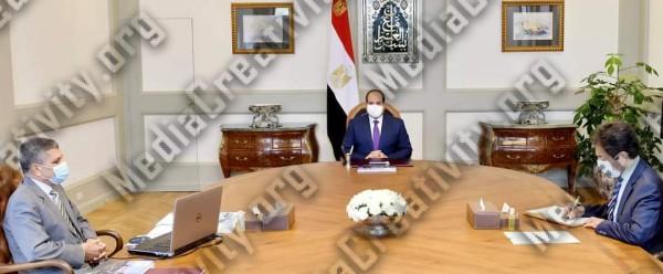 السيسي يجتمع مع الفريق أسامة ربيع رئيس هيئة قناة السويس